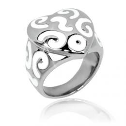 Ocelov� �perk - masivn� prsten SRDCE