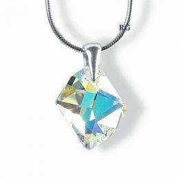 SILVEGO st��brn� p��v�sek Cosmic AB 20mm se Swarovski® Crystals