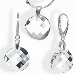 Stшнbrnэ set Twist 18mm se Swarovski Elements - zvмtљit obrбzek