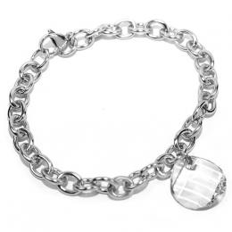 Ocelovэ nбramek vyrobenэ se Swarovski Elements Twist 18mm Crystal