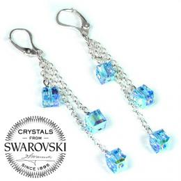 Silvego stшнbrnй шetнzkovй nбuљnice Kosteиky se Swarovski(R) Crystals