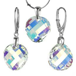 Stшнbrnэ set Twist 18mm Crystal AB se Swarovski Elements