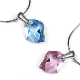 SILVEGO st��brn� p��v�sek Cosmic 14mm se Swarovski Crystal