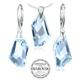 Silvego stшнbrnэ set De-Art Crystal Aquamarine se Swarovski(R) Crystals