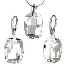 St��brn� set Graphic Crystal 19mm se SWAROVSKI ELEMENTS