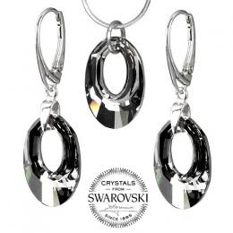 Silvego stшнbrnэ set se Swarovski(R) Crystals Helios Silver Night