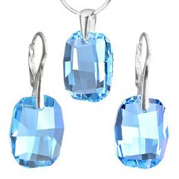Stшнbrnэ set Graphic 19mm Aquamarine se SWAROVSKI ELEMENTS
