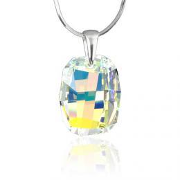 SILVEGO stшнbrnэ pшнvмsek Graphic 19mm Crystal AB se Swarovski® Crystals - zvмtљit obrбzek