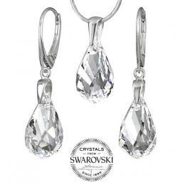SILVEGO st��brn� set se Swarovski® Crystals Helix
