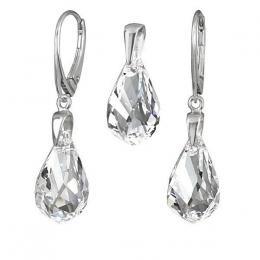 SILVEGO støíbrný set se Swarovski® Crystals Helix