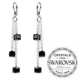 St��brn� �et�zkov� n�u�nice Koste�ky se Swarovski Elements - Crystal Silver Night