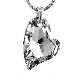 Stшнbrnэ pшнvмsek Argent Heart 27mm se Swarovski Elements