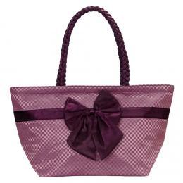 NARAYA fialov� kostkovan� kabelka s ma�l�