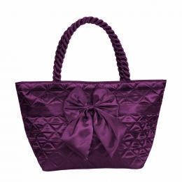 Sat�nov� kabelka NARAYA fialov� s ma�l�