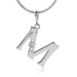 Keltský støíbrný pøívìsek písmeno M