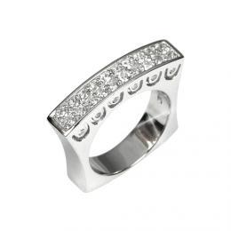 Luxusn� st��brn� prsten s k�i���lem se Swarovski Elements
