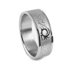 Ocelov� prsten se vzorem - AKCE - zv�t�it obr�zek