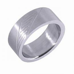 Ocelov� prsten s v�brusem - AKCE - zv�t�it obr�zek