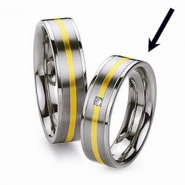 Ocelov� prsten - snubn� - pro �eny RC2042-Z - zv�t�it obr�zek