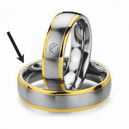 Ocelový prsten - snubní - pro muže RC2044-M