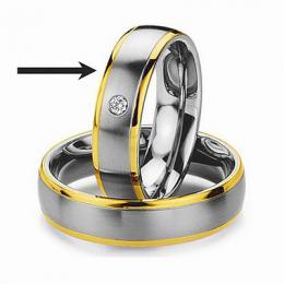 Ocelov� prsten - snubn� - pro �eny RC2044-Z