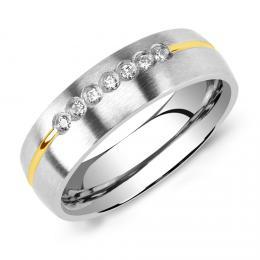 Snubnн ocelovэ prsten pro ћeny PARIS  - zvмtљit obrбzek