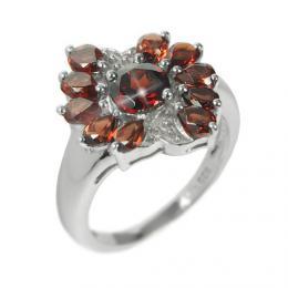 St��brn� prsten s polodrahokamem Gran�t RSG36083G