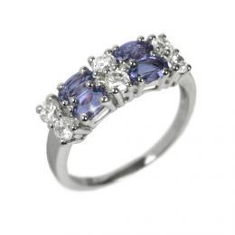 Dбmskэ prsten s pшнrodnнm iolitem a zirkony RSG36087I
