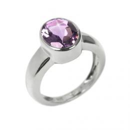Stшнbrnэ modernн prsten s pravэm Ametystem