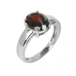 Stшнbrnэ oblнbenэ prsten s pшнrodnнm granбtem 8x10mm