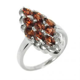 Støíbrný originální prsten pøírodní granát RSG36352G