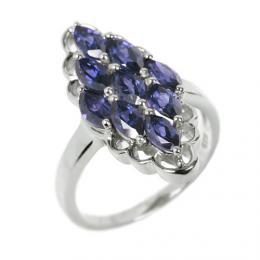 St��brn� prsten s modr�m iolitem RSG36352I