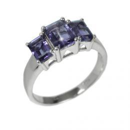 Stшнbrnэ prsten polodrahokam iolit RSG36358i
