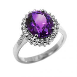 Luxusn� prsten z b�l�ho zlata MADELEINE