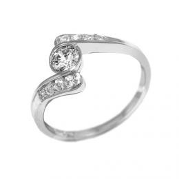 Stшнbrnэ prsten ROSES se Swarovski Zirconia