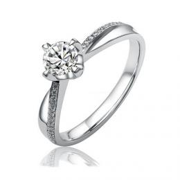 SILVEGO stшнbrnэ originбlnн prsten Florence se Swarovski® Crystals