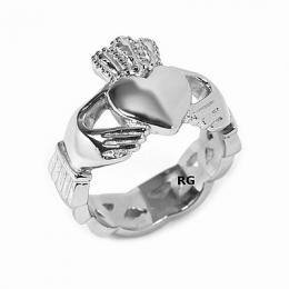 Ocelov� prsten Claddagh - AKCE - zv�t�it obr�zek