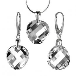 St��brn� set Twist 18mm Argent se Swarovski Elements