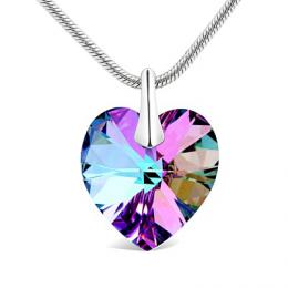 Stшнbrnэ pшнvмsek Srdce Crystal Vitrail Light 18mm se Swarovski Elements