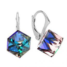 SILVEGO stшнbrnй nбuљnice kosteиky Swarovski(R) Crystals BERMUDA BLUE