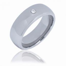 Prsten se zirkonem - wolfram