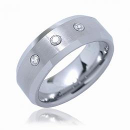 WOLFRAM - prsten snubn� se zirkony