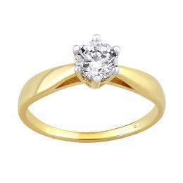 Zlat� z�snubn� prsten AIREL s �ir�m kamenem