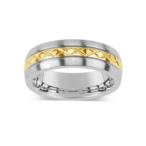 Silvego Snubní ocelový prsten pro muže a ženy KMR10006 - KMR10006