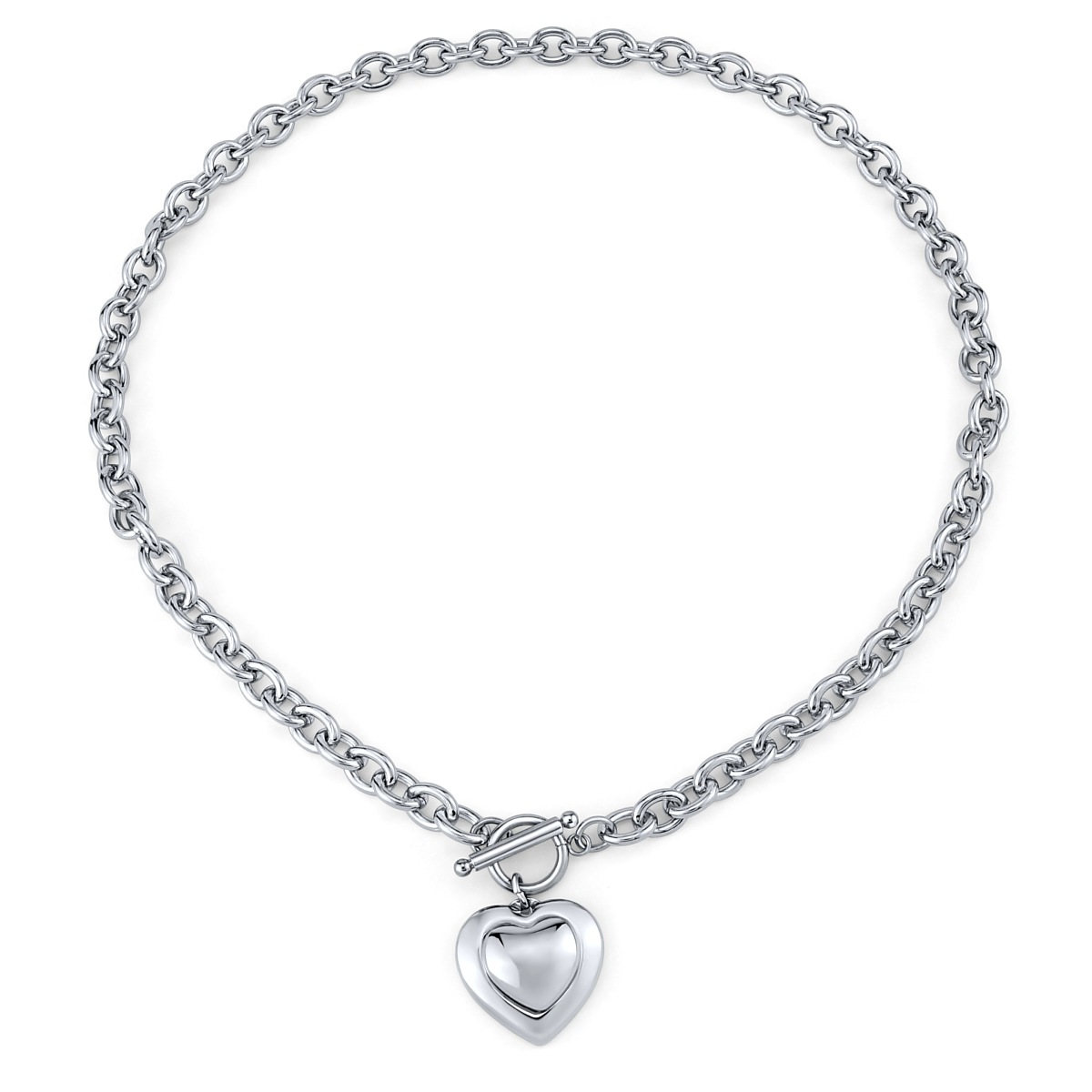 83ea10143 Náhrdelník srdce z chirurgické oceli 50 cm - stribro-klenoty.cz