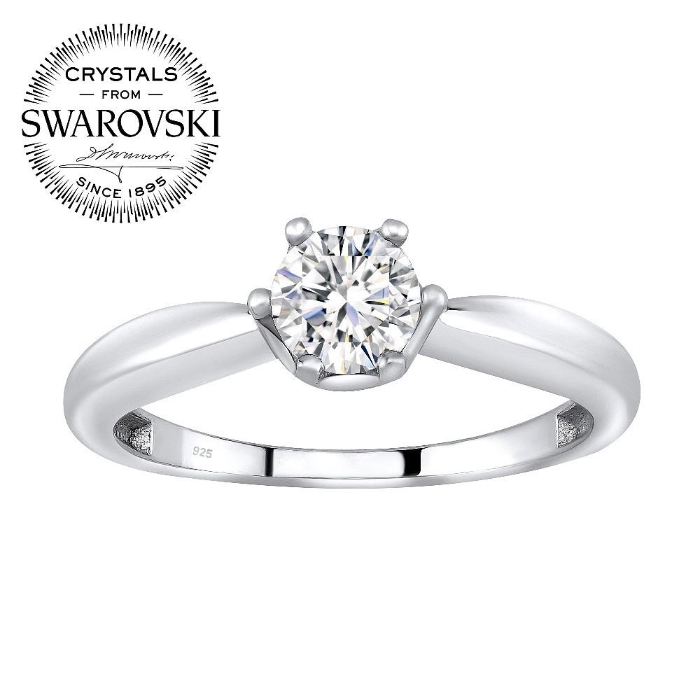 SILVEGO stříbrný prsten se Swarovski(R) Crystals - stribro-klenoty.cz 695936b8c05