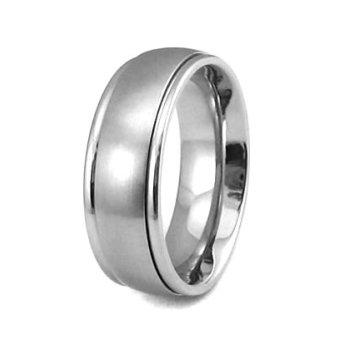 Ocelovэ prsten s otбиivэm stшedem - AKCE