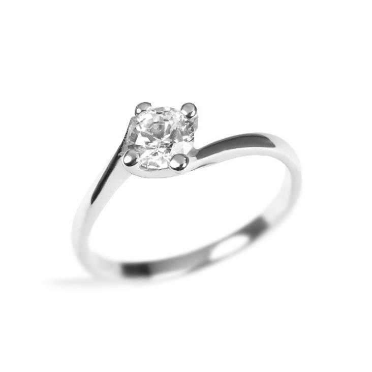 SILVEGO decentní stříbrný prsten Crystal 6mm se Swarovski(R) Crystals -  zvětšit obrázek b88f3321323
