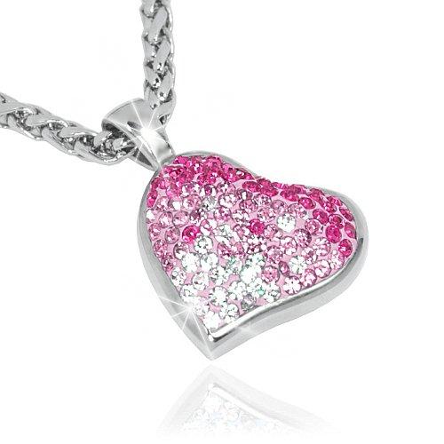 Přívěsek s křišťálem se Swarovski Elements - růžové Srdce - zvětšit obrázek 39979e24259