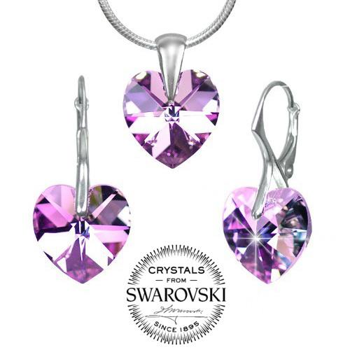 Silvego stříbrný set SRDCE 14mm se Swarovski(R) Crystals Vitrail Light -  zvětšit obrázek 18868ec8f27